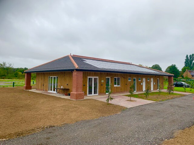 Amenities building at Flaxton Meadows